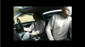 Damon Hill sickens journalist in Mercedes SL55 AMG video