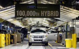 Ford produced 100000 hybrid SUVs