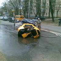 Lamborghini Murcielago totaled Video and Photos