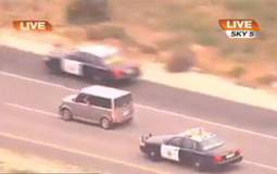 Police vs Crazy Woman car chase video