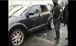 Russian special forces attack wrong Porsche Cayenne video