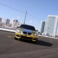 The Golden BMW M5 from Russia