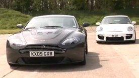 Aston Martin V12 Vantage vs Porsche GT2