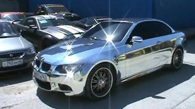BMW E93 M3 Convertible fully chromed