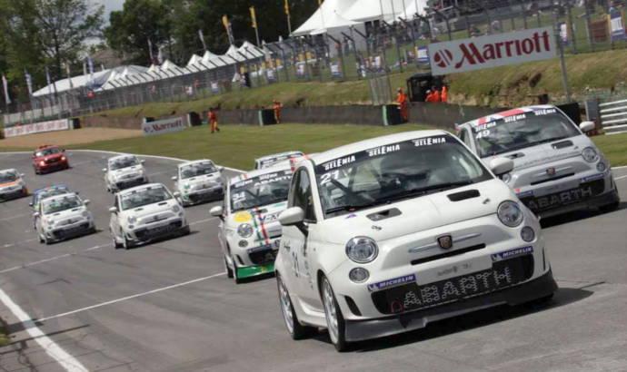 Abarth 500 racing in UK
