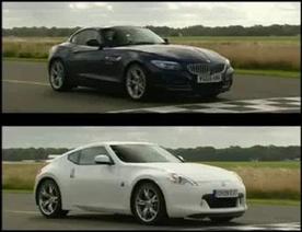 BMW Z4 vs Nissan 370Z on Top Gear