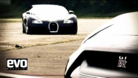 Bugatti Veyron vs Nissan GT-R video