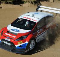 Ford Fiesta RallyCross racing at Pikes Peak 2009 video