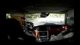 Mercedes SLS AMG test drive at Nurburgring