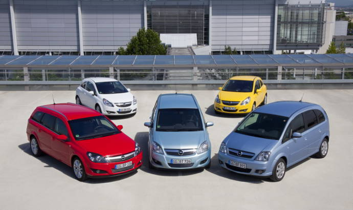Opel Corsa, Meriva, Astra station wagon and Zafira LPG