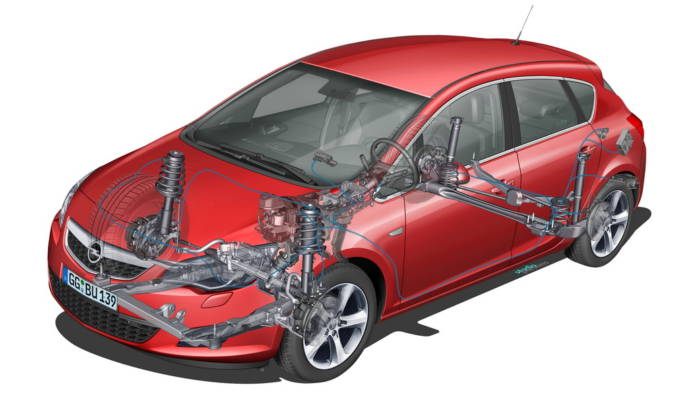 Opel Astra chassis