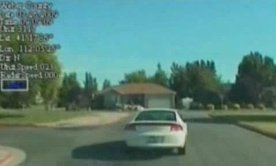 Police chasing 7 year old Dodge driver : Video