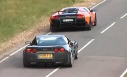 Corvette ZR1 vs Lamborghini Murcielago SV video