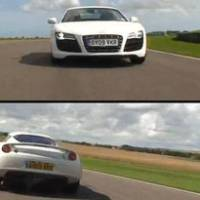 Lotus Evora vs Audi R8 V10 video