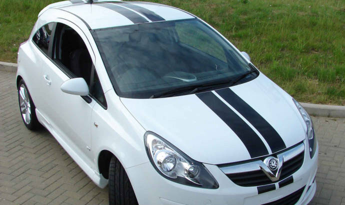 Vauxhall Corsa with VXR racing stripes