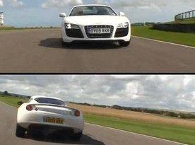 Lotus Evora vs Audi R8 V10 video