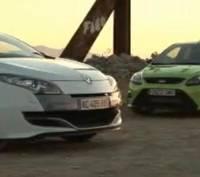Renault Sport Megane 250 vs Ford Focus RS video