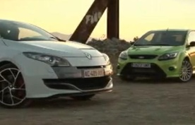 Renault Sport Megane 250 vs Ford Focus RS video