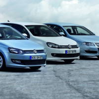 Volkswagen Polo Golf and Passat BlueMotion