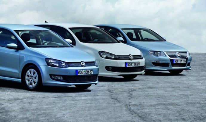 Volkswagen Polo Golf and Passat BlueMotion