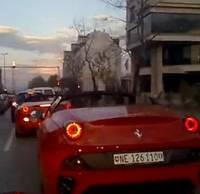 Ferrari California Crashes Into Bulldozer : Video