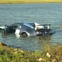 Video: Bugatti Veyron goes swimming