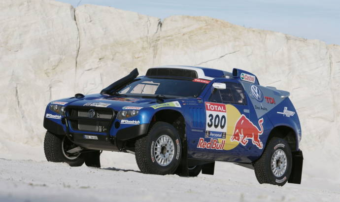 Volkswagen wins first, second and third place at 2010 Dakar Rally