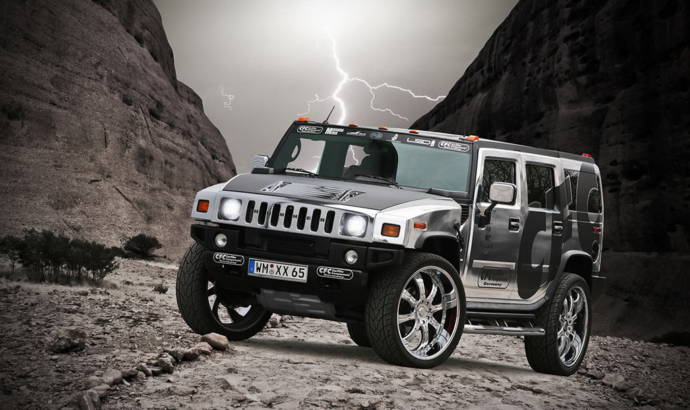 CFC Chromed Hummer H2