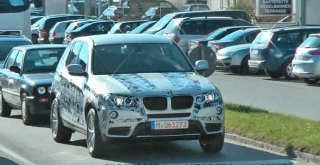 2011 BMW X3 F25 spy video