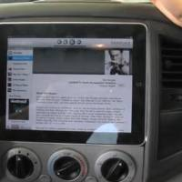 Apple iPad in-car installation video