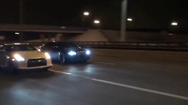 Audi RS6 Evotech vs Nissan GT-R