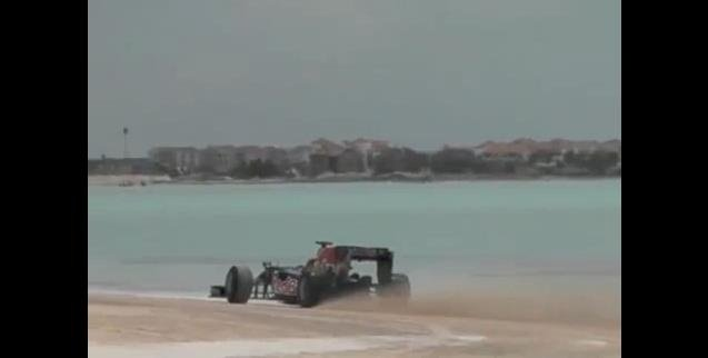 Red Bull Racing F1 Car on the Beach