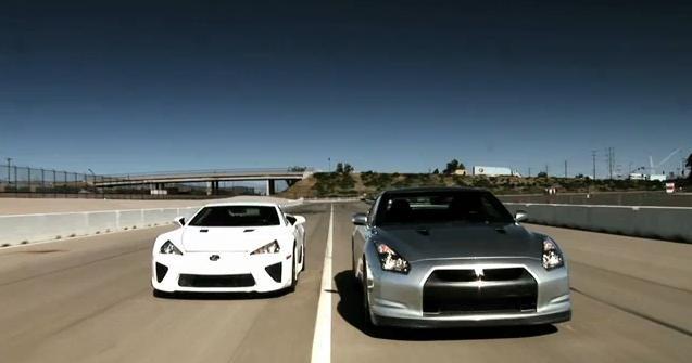 Video: Lexus LFA vs Nissan GTR