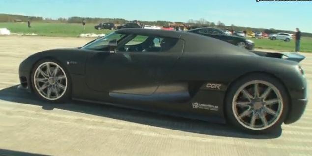 Video: Switzer Nissan GTR vs Koenigsegg CCR