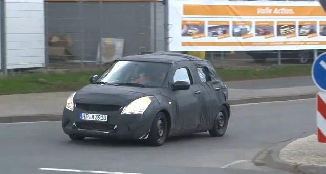 2011 Suzuki Swift spy video