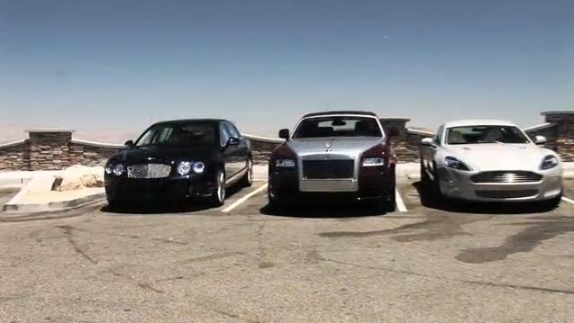 Aston Martin Rapide vs Rolls Royce Ghost vs Bentley Continental Flying Spur