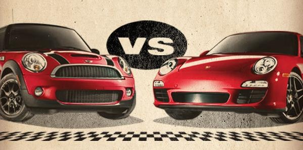 MINI Cooper S vs Porsche 911 Carrera S