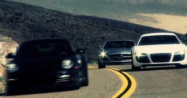 Mercedes SLS AMG vs Audi R8 V10 vs Porsche 911 Turbo