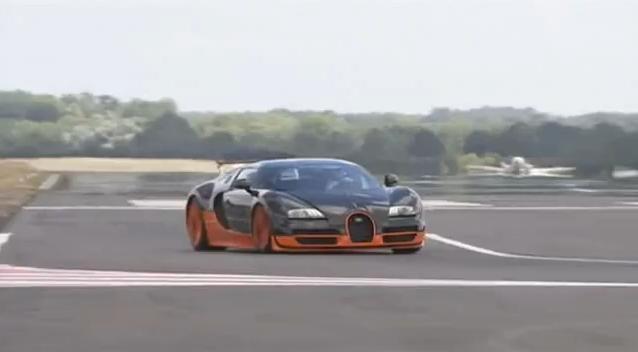 Bugatti Veyron Super Sport fastest car on Top Gear track