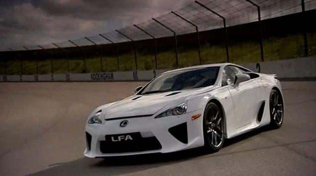 Lexus LFA track video