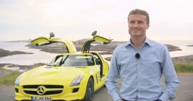 Video: Mercedes SLS AMG E-CELL Test Drive with David Coulthard