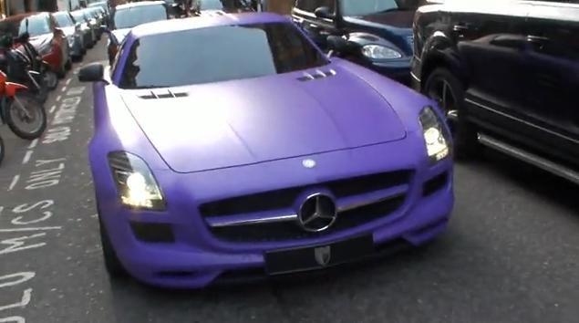 Video: Mercedes SLS AMG Matt Purple