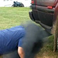 Video: Teenager Faces Diesel Truck Exhaust
