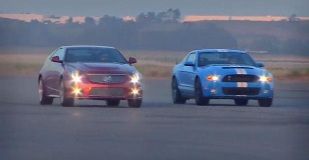 Video: Cadillac CTS-V Coupe vs Shelby GT500