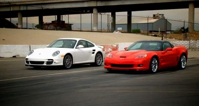 Chevrolet Corvette ZR1 vs Porsche 911 Turbo video