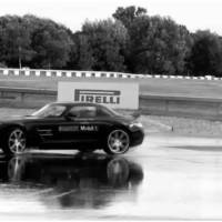 Mercedes SLS AMG drifting video