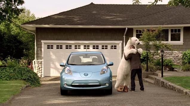 Video: Nissan LEAF Polar Bear commercial