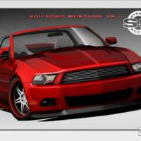 Custom 2011 Ford Mustangs at SEMA 2010