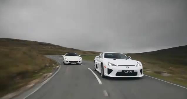 Video: Ferrari 599 HGTE vs Lexus LFA