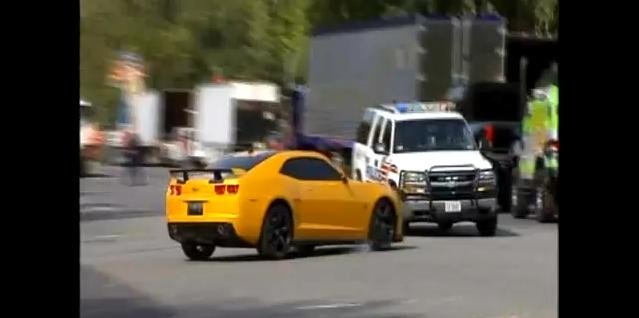 Video: Bumblebee Camaro Crashes into Cop Car